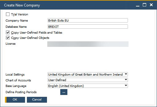 SAP Business One version 10 Brexit options