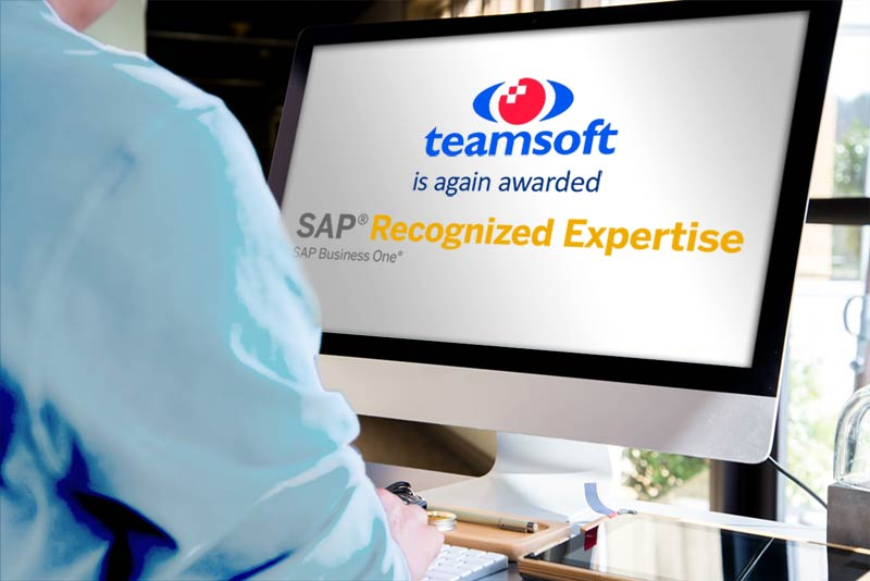 Teamsoft achieve SAP Recognised Expertise in SAP Business One in Ireland again in 2021